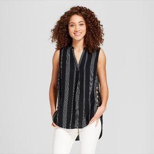 Cool XL summer sleeveless long cotton top tailored
